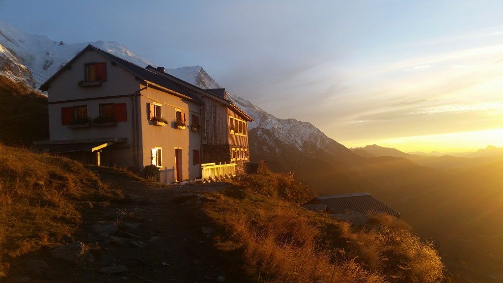 Evening hike up to Plan d´Aiguille.