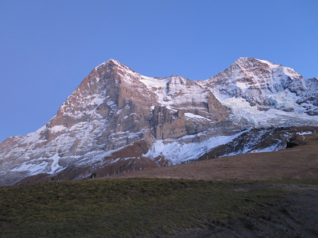 Eigerwand and Mönch`s N face.