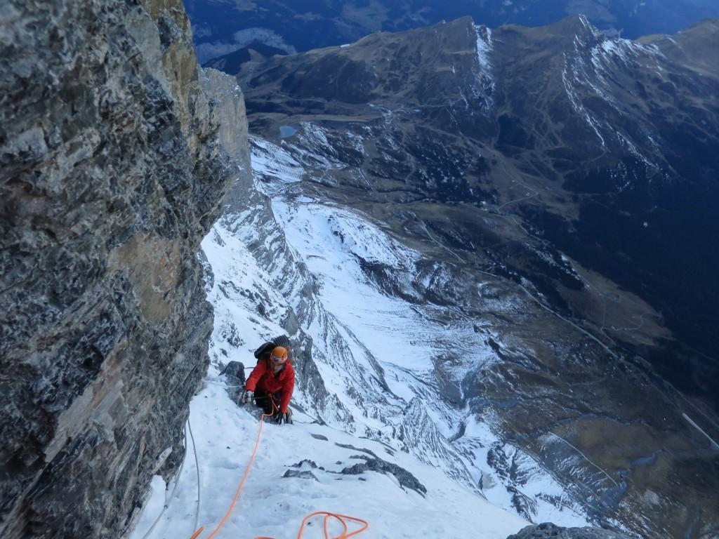 Kalle climbing the Ramp.