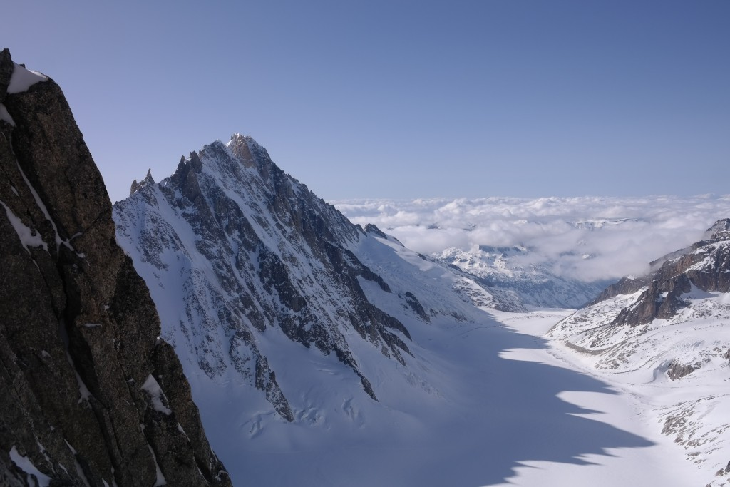 View from the Brecche to the Argentiere glacier basin