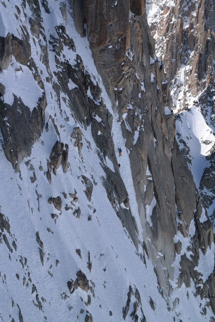 Luca Moroni and David Bacci climbing Ginat.
