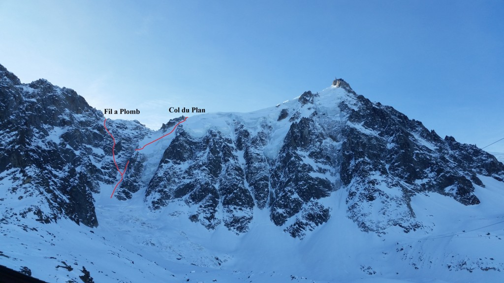 Both of the lines seen from the Plan d´Aiguille.