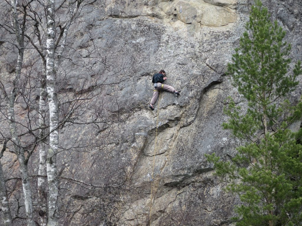 "Aleksi had a long battle with ""Flashback, 7a"" at Haukkavuori."