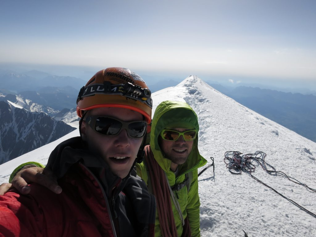 On the summit of Mont Blanc!