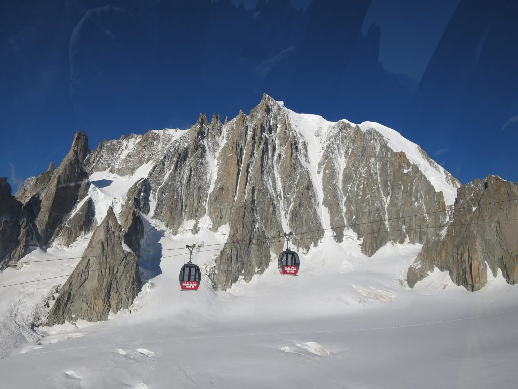 Expensive cable car ride over the Vallee Blanche. I try to avoid this usually.