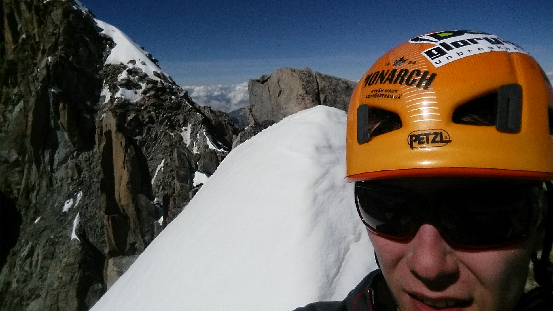 Solo traverse of the Verte