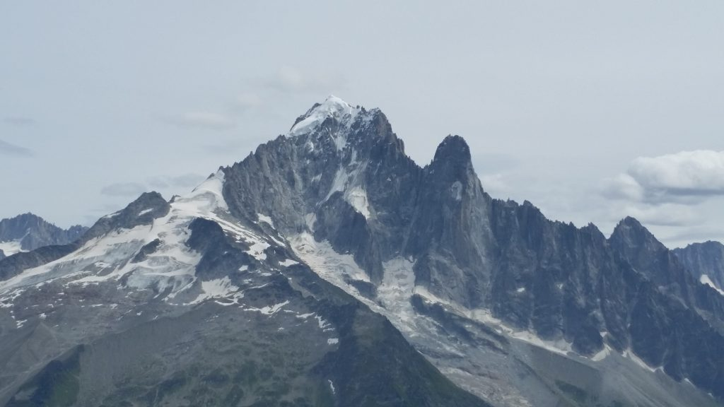 Grand Montets arete is the left-hand skyline.