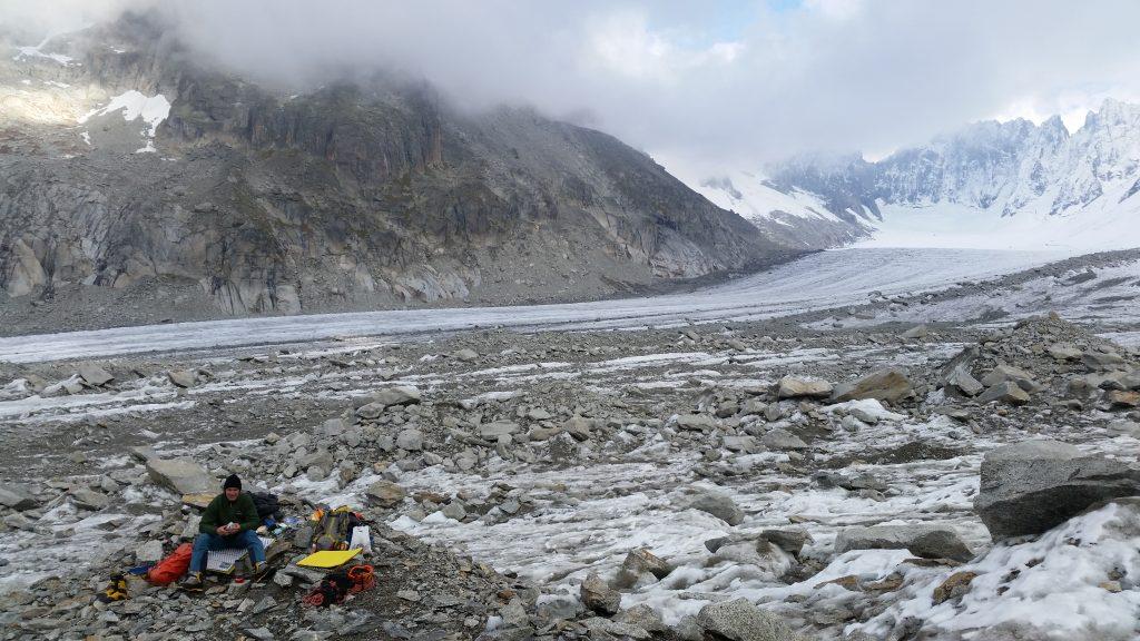 Glacier bivi.